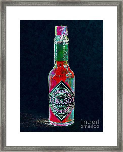 Tabasco Sauce 20130402 Framed Print
