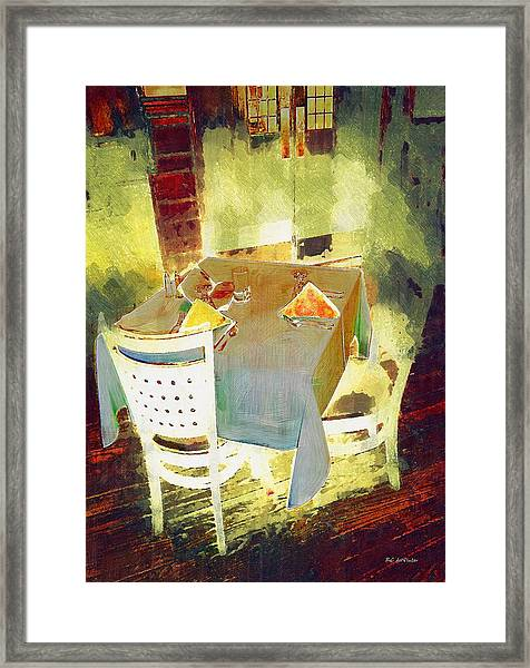 Table At The Fauve Cafe Framed Print