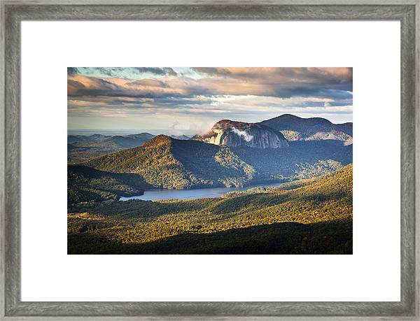 Table Rock Sunrise - Caesars Head State Park Landscape Framed Print