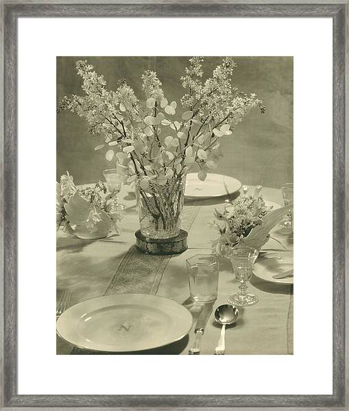 Table Setting Framed Print