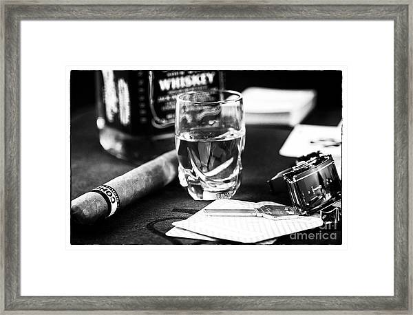 Table Vices Framed Print