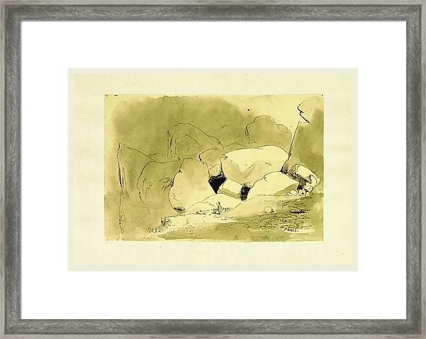 Tableau Pittoresque Des Pyrenees Francaises  Vallees Du Framed Print