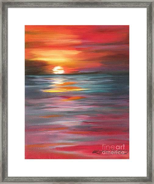 Tahitian Sunset Framed Print