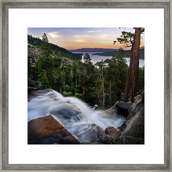 Tahoe Eagle Falls Sunrise 2 Framed Print