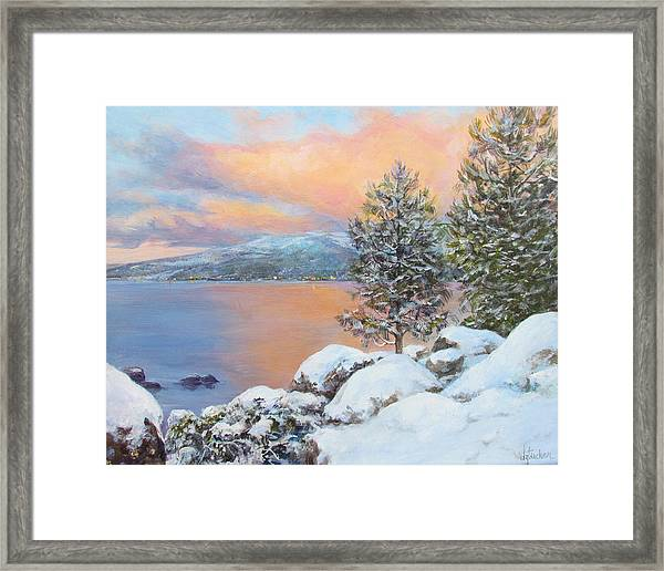 Tahoe Winter Colors Framed Print