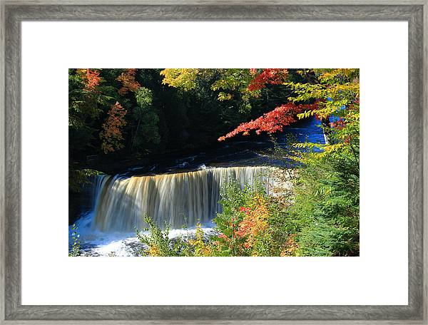 Tahquamenon Falls Autumn Framed Print