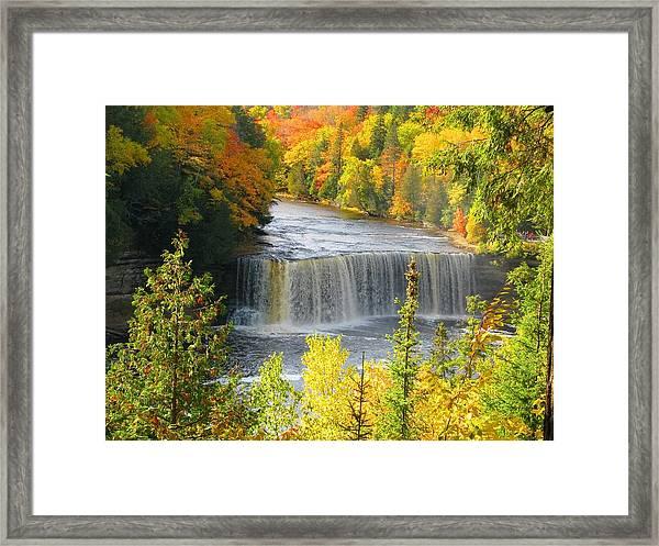 Tahquamenon Falls In October Framed Print