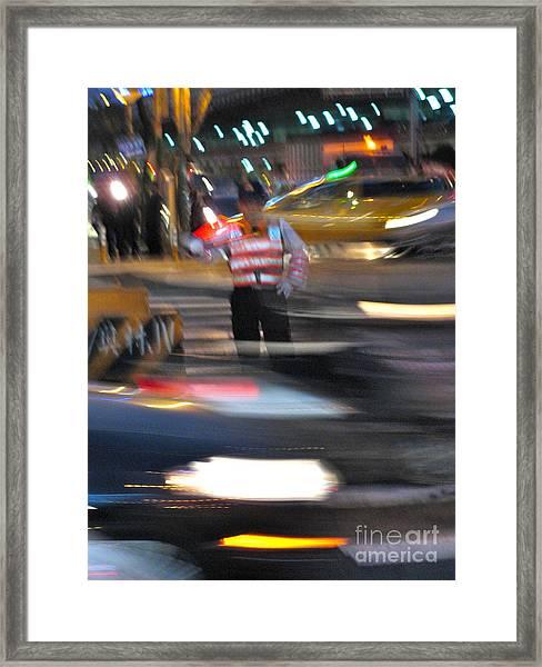 Taipei Traffic Framed Print