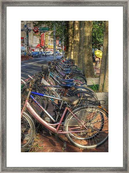 Taiwan Bikes Framed Print