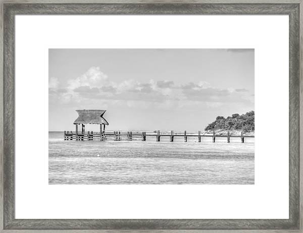 Take A Long Walk Off A Short Pier Framed Print