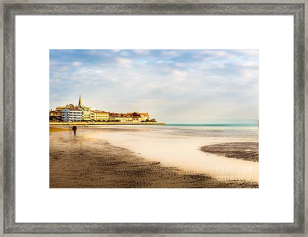 Take A Walk At The Beach Framed Print