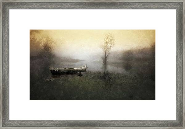 Take Me Down To My Boat In The River Framed Print by Charlaine Gerber
