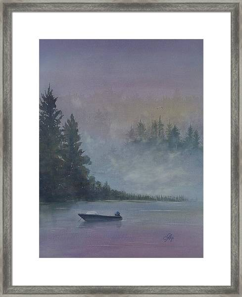 Framed Print featuring the painting Take Me Fishing by Gigi Dequanne
