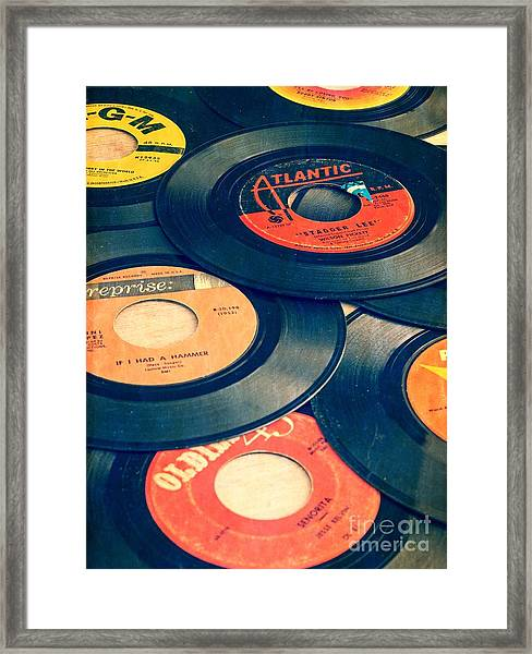 Framed Print featuring the photograph Take Those Old Records Off The Shelf by Edward Fielding