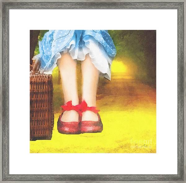 Taking Yellow Path Framed Print