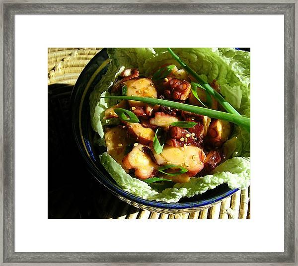 Tako Poke - Hawaiian Octopus Salad Framed Print