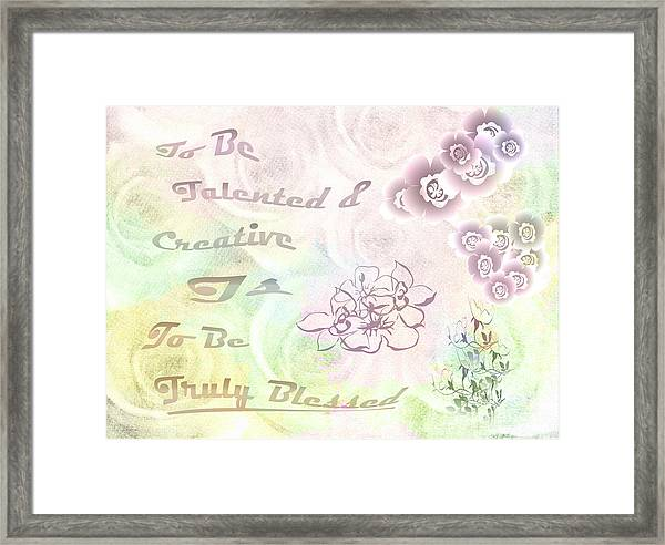 Talented And Creative Framed Print
