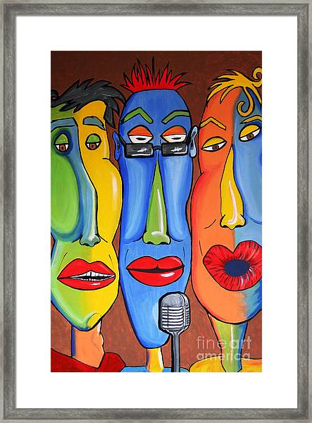 Talking Heads Framed Print