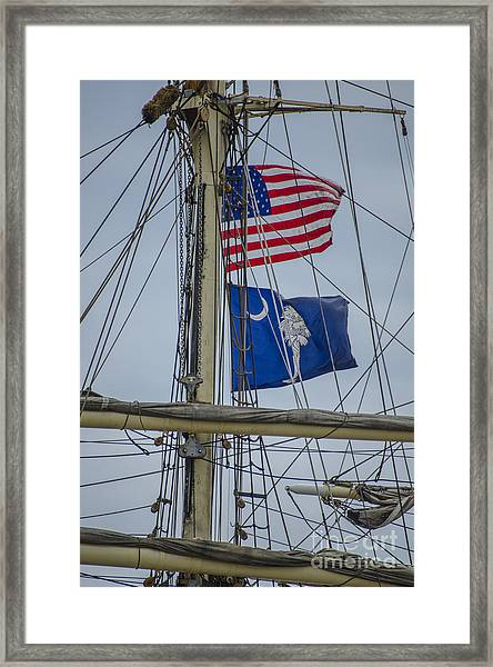 Tall Ships Flags Framed Print