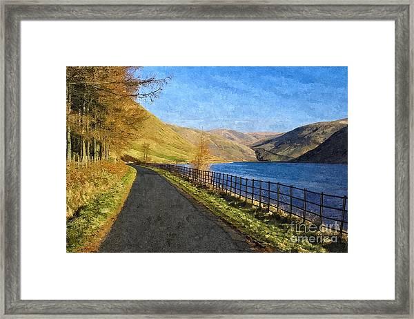 Talla Reservoir Scottish Borders Photo Art Framed Print