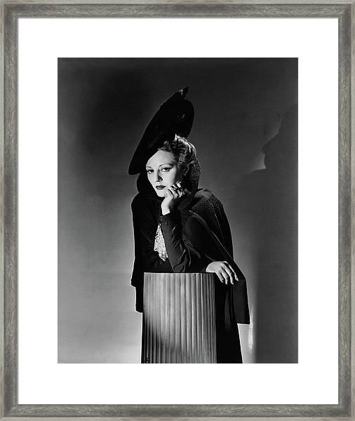 Tallulah Bankhead For The Play The Little Foxes Framed Print