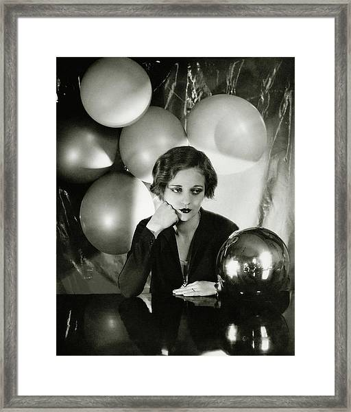 Tallulah Bankhead Surrounded By Balloons Framed Print