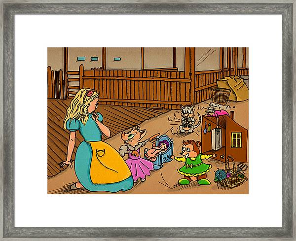 Tammy's Backyard Framed Print