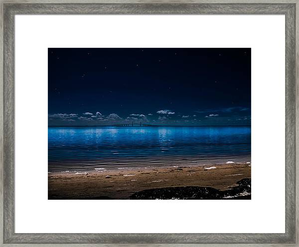 Tampa Bay Nights Framed Print