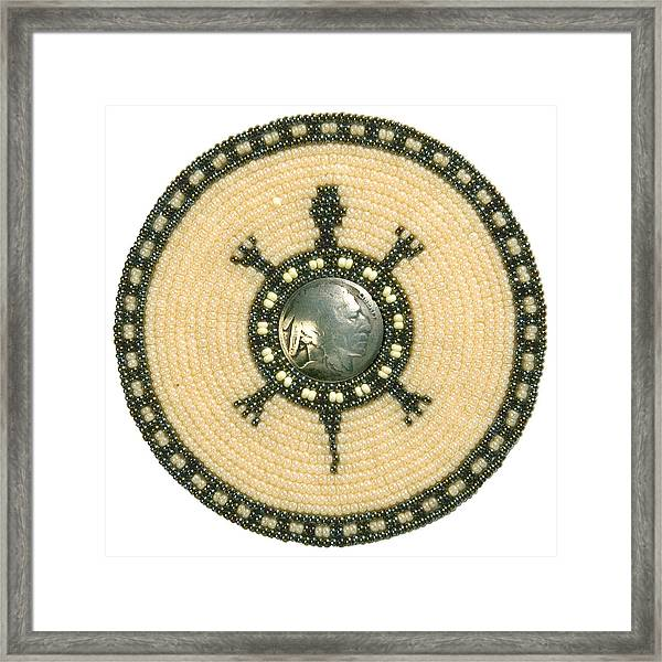 Tan Indian Turtle Framed Print