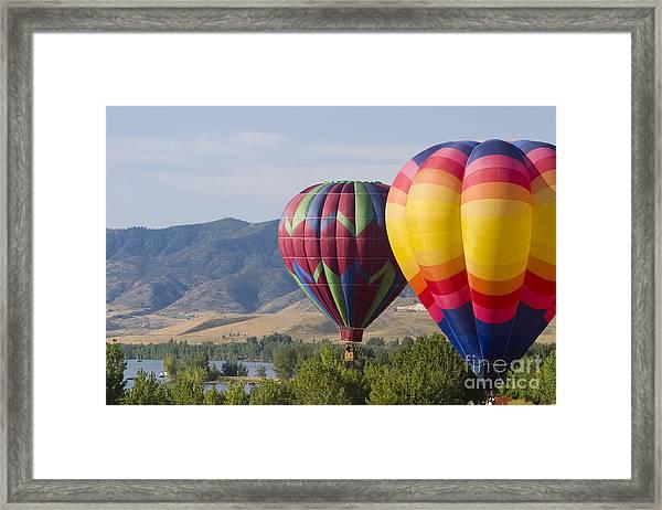 Tandem Balloons Framed Print