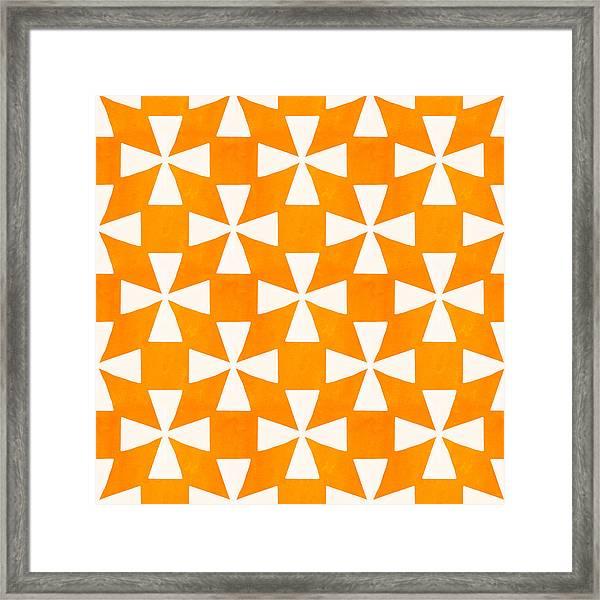 Tangerine Twirl Framed Print