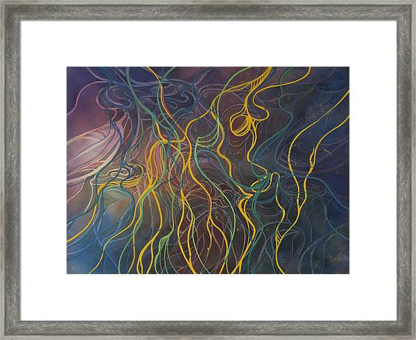 Tangled Boats  Framed Print