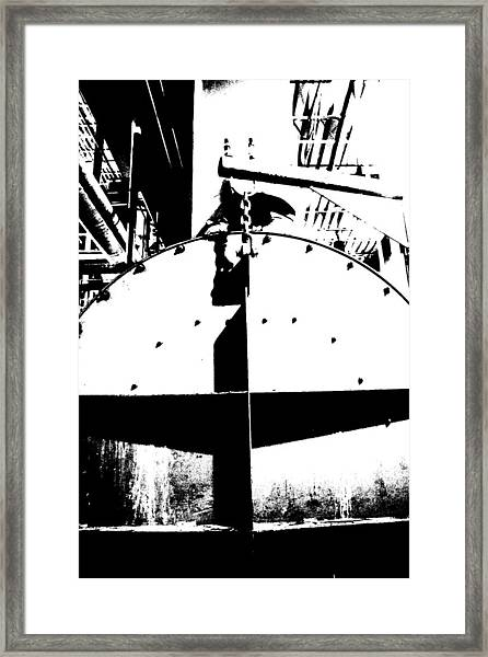 Tank And Chain Framed Print