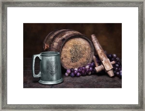 Tankard Of Drink Still Life Framed Print
