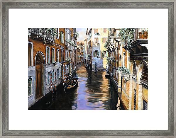 Tanta Luce A Venezia Framed Print