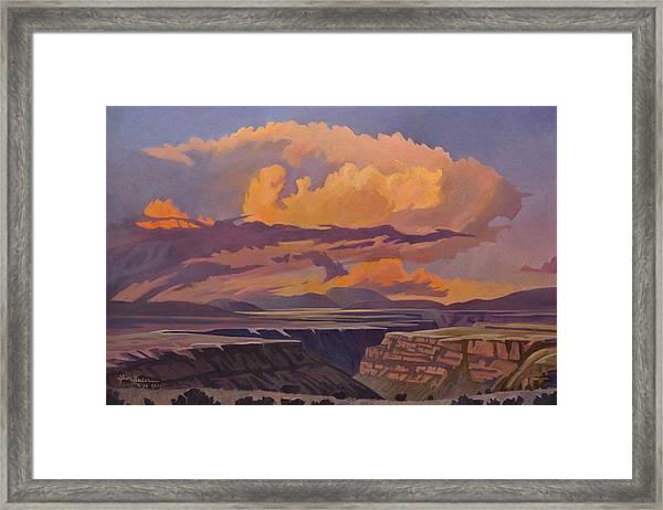Taos Gorge - Pastel Sky Framed Print