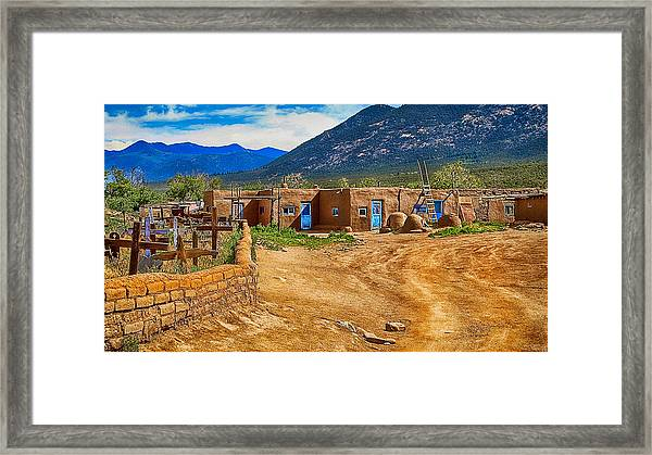 Taos Graveyard Framed Print
