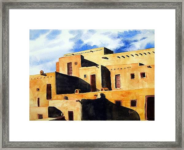 Taos Pueblo Framed Print