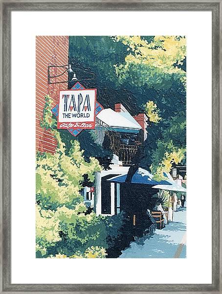 Tapa The World Framed Print by Paul Guyer