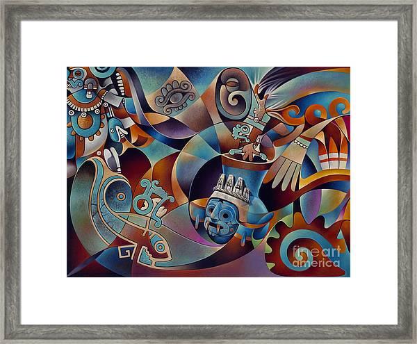 Tapestry Of Gods - Tlaloc Framed Print