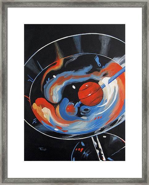Tar Heel Martini 2011 Framed Print