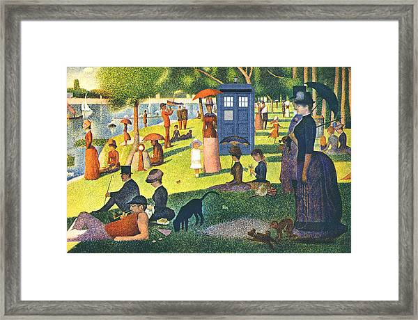 Tardis V Georges Seurat Framed Print