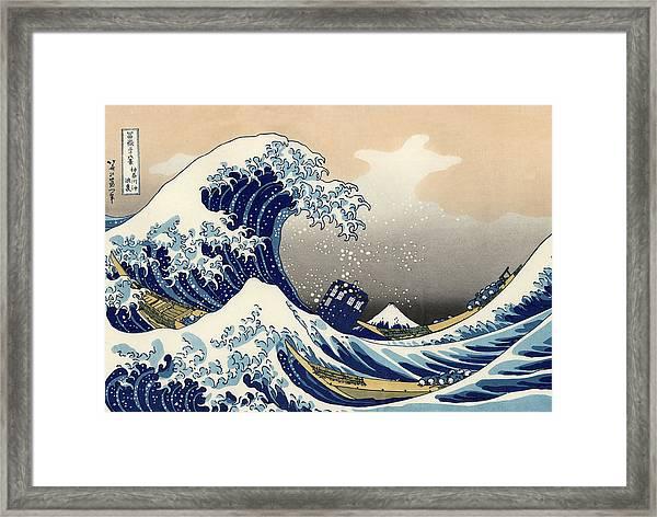 Tardis V Katsushika Hokusai Framed Print