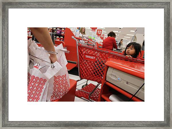 Target Reports Increase In Quarterly Earnings Framed Print by Justin Sullivan