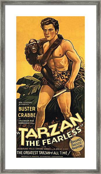 Tarzan The Fearless  Framed Print