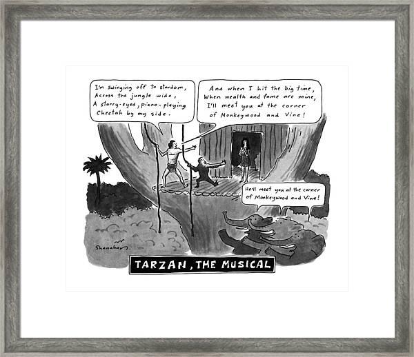 Tarzan The Musical Framed Print