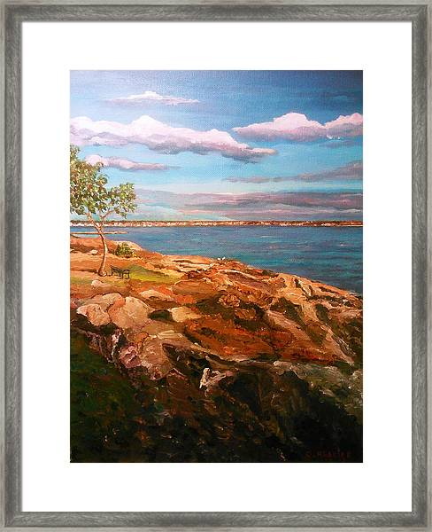 Framed Print featuring the painting Taste Of Southcoast by Ray Khalife