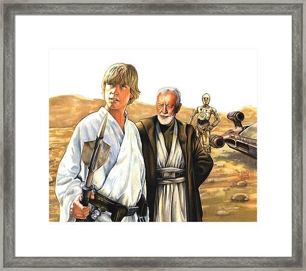 Tatooine Massacre Framed Print