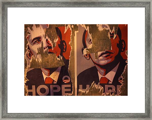 Tattered Hope Framed Print