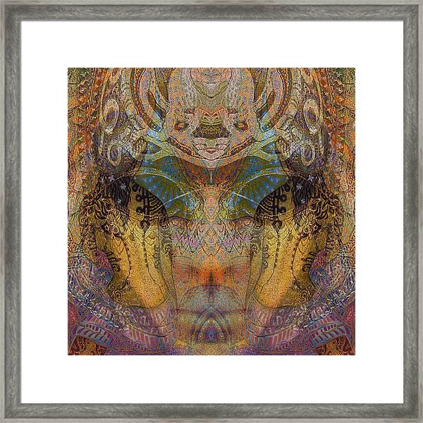 Tattoo Mask Framed Print